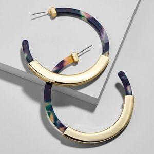 Jewelry - COMING SOON! ✨BAUBLE BAR STYLE RESIN HOOP EARRINGS